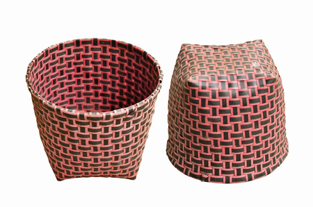 overturn: Up and downside red plastic basket