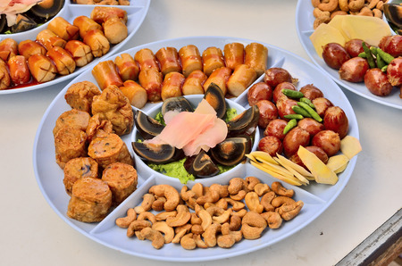 palatable: Tray of palatable appetizer chinese style