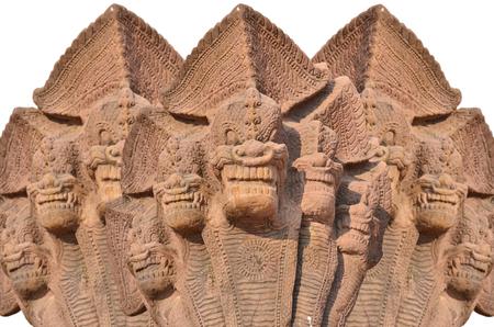 sand stone: Three sand stone sculptures on white