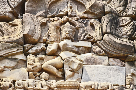 sand stone: High relief of god on sand stone palace