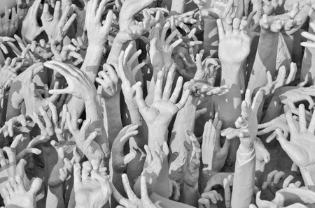dangerous ideas: Suffering hand of spirits from hell Stock Photo