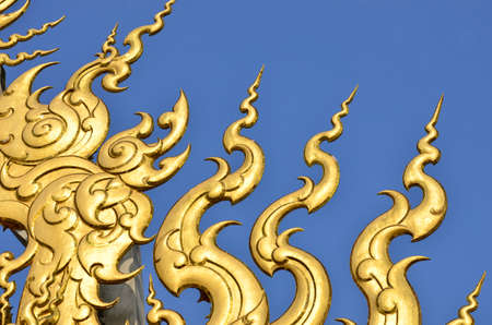 thai style: Thai style pattern on blue background