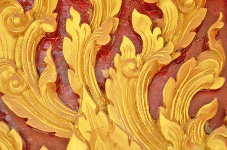 thai style: Aflutter style of golden thai patten