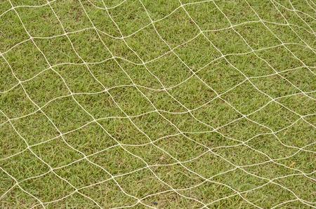 White nylon nets on green grass