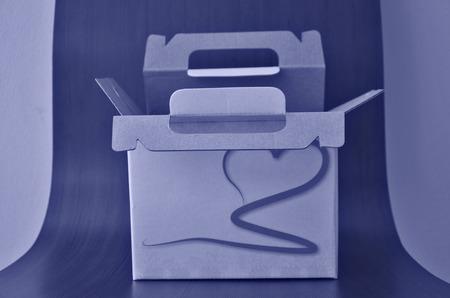paper box: Monotone of paper box closeup