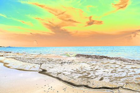solarize: Solarize image of beautiful seascape Stock Photo
