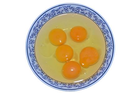 albumen: Albumen and yolk egg in the bowl