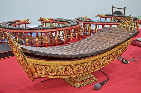 xilofono: xilófono de madera estilos de Tailandia Foto de archivo