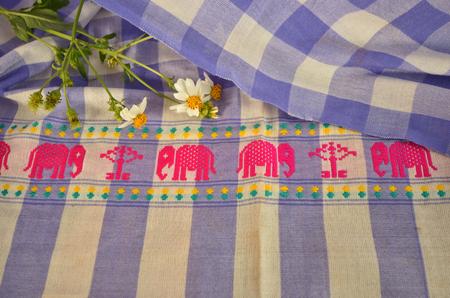pink elephant: Pink elephant pattern on multipurpose clothes