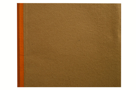 tabular: Brown cover with saddle of a book