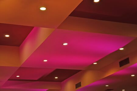 diorama: Diorama of color and light on the ceiling Stock Photo