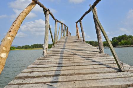 long lake: A long bridge across the lake