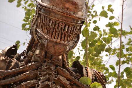 metalschrott: Scary Eisen Monster Animal Planet Lizenzfreie Bilder