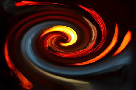 interweave: Spiral colored fire on black background