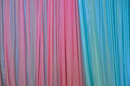 Sparkling colors of pink and blue curtain
