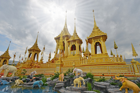 Special one of golden royal crematorium in the world