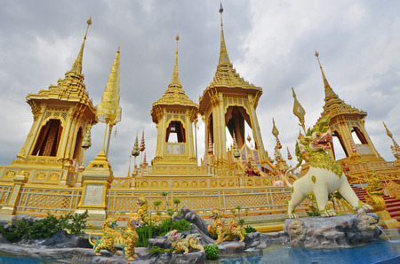 The most beautiful golden royal crematorium in the world