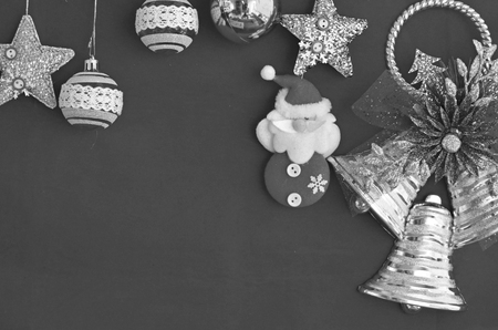 Black and white image of accessories for Chriatmas card decoration Imagens