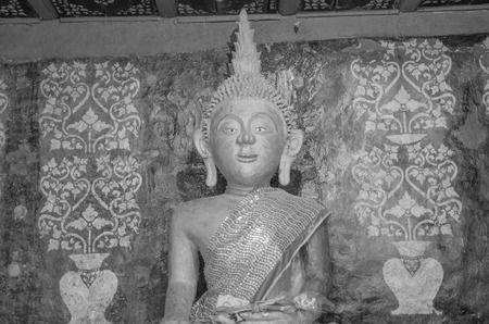 Sacred ancient buddha image in Thailand