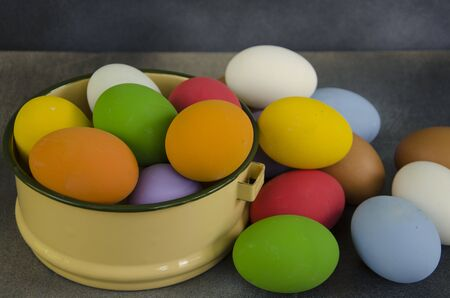 Beautiful shell of colored egg close up Stok Fotoğraf