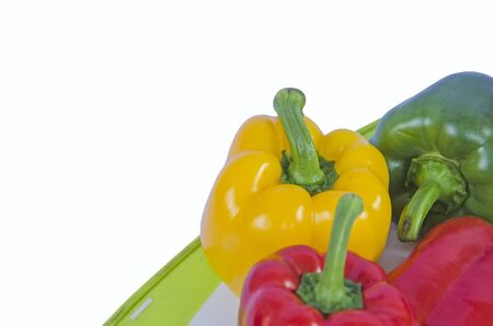 Beautiful sweet pepper on white background Imagens - 130782382