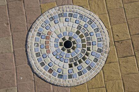 Beautiful mosaic pattern on the floor