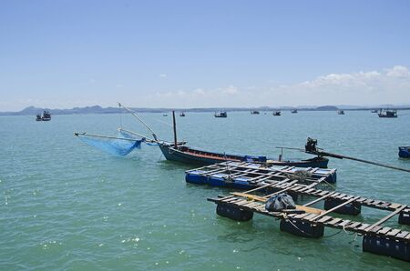 Floating marinas with boats in the sea Stock fotó
