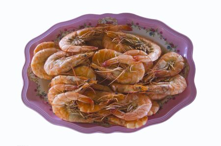 Top hit menu is boiled fresh prawn dish