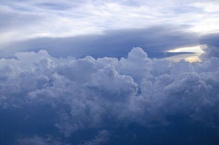 Beautiful high clouds in blue sky