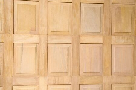 Brown square pattern of wooden wall texture