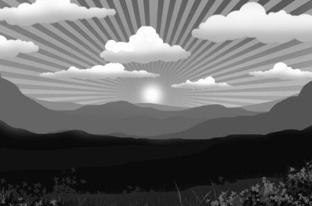 Beautiful sky with sundown in countryside Imagens - 134394218