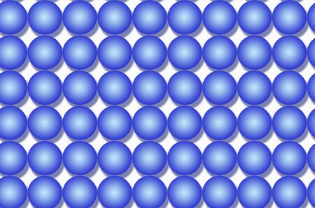 Art of blue balls with soft shadows on white background Imagens - 134394225