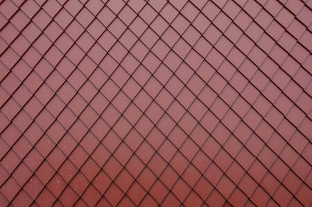 Red square pattern of new ceramic roof