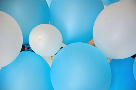 Beautiful blue and white balloon texture close up Imagens