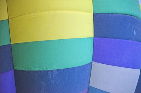 Beautiful colored pattern of balloon clothes close up Imagens