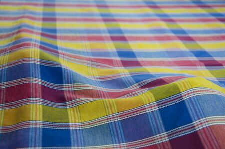Beautiful bulging colored pattern of Thai style multipurpose clothes