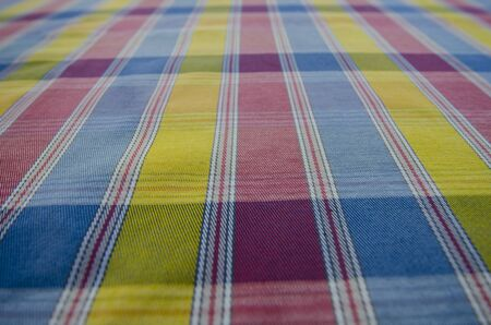 Beautiful line and table pattern of multipurpose clothes Imagens