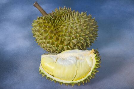 Piece of beautiful yellow aril of durian in and fruit