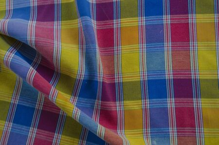 Corrugated pattern of beautiful Thai style colored multipurpose clothes