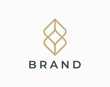 Ornament logo and icon design vector. Logo