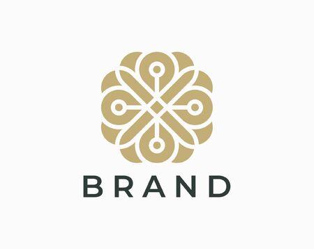 Ornament logo and icon design vector. Illustration