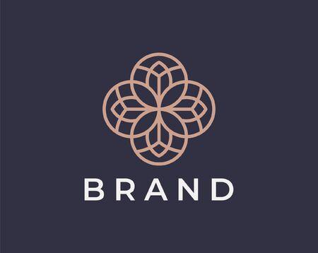 Ornament logo and icon design vector. Stock Illustratie