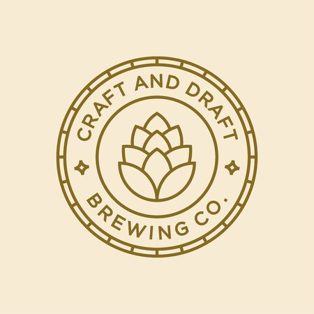 Brewery logo and icon design vector.