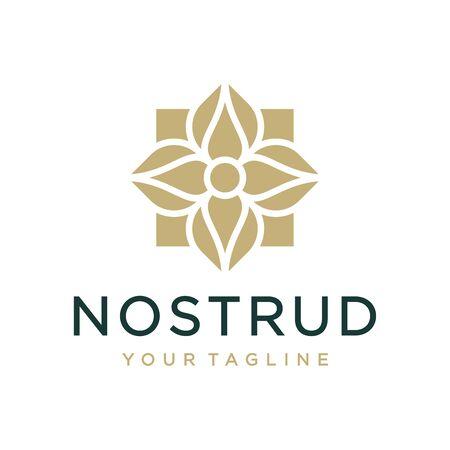 Vector de diseño de logotipo e icono de ornamento. Logos