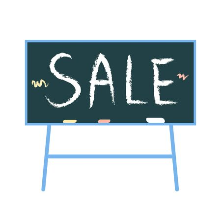 blackboard with white handwritten text Sale. for school, education business