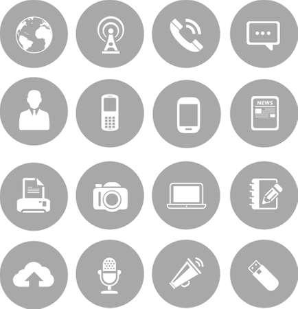 media center: Communication   Media Icon set