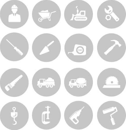 putty: Construction icons Illustration