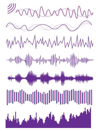 visualize: Diverse grafica di un'onda sonora audio Visualize