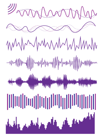 visualize: Multiple graphic of sound wave  audio visualize