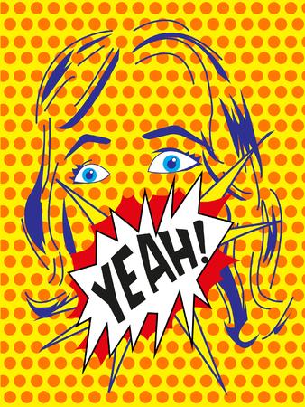 yeah: Graphic illustration of pop art YEAH
